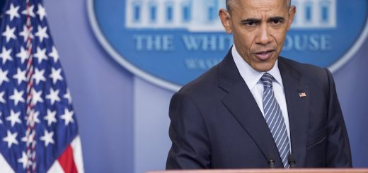 CORRECTION - US President Barack Obama speaks during a press conference in the Brady Press Briefing Room of the White House in Washington, DC, November 14, 2016. President-elect Donald Trump has vowed to move aggressively on a conservative agenda in filling Supreme Court vacancies, cracking down on immigration and cutting taxes, but also sought to reassure worried Americans they have nothing to fear from his presidency.  / AFP / SAUL LOEB / The erroneous mention[s] appearing in the metadata of this photo by SAUL LOEB has been modified in AFP systems in the following manner: [US President Barack Obama speaks during a press conference in the Brady Press Briefing Room of the White House in Washington, DC, November 14, 2016.] instead of [US President-elect Donald Trump's campaign manager Kellyanne Conway speaks to the press as she leaves from the Trump Tower in New York on November 14, 2016. ]. Please immediately remove the erroneous mention[s] from all your online services and delete it (them) from your servers. If you have been authorized by AFP to distribute it (them) to third parties, please ensure that the same actions are carried out by them. Failure to promptly comply with these instructions will entail liability on your part for any continued or post notification usage. Therefore we thank you very much for all your attention and prompt action. We are sorry for the inconvenience this notification may cause and remain at your disposal for any further information you may require.        (Photo credit should read SAUL LOEB/AFP/Getty Images)
